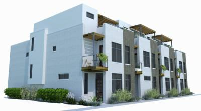 Townhome building design.