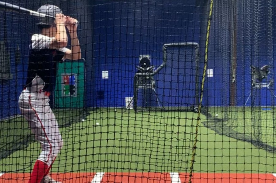 Dingers Baseball opened Feb. 1 on Cypress Rosehill Road with five batting cages and a pitching lane. (Courtesy Dingers Baseball)
