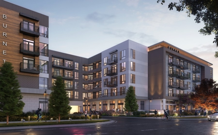 Renderings show plans from developer Oden Hughes for a housing project on Burnet Road at the former location of restaurant The Frisco Shop. (Rendering courtesy Oden Hughes)