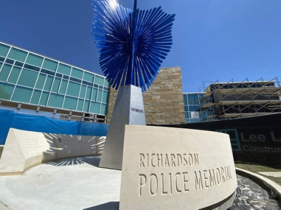 The Richardson Police Department is operating an emergency warming center in its headquarters' lobby at 300 N. Greenville Ave. (Courtesy Richardson Police Department)