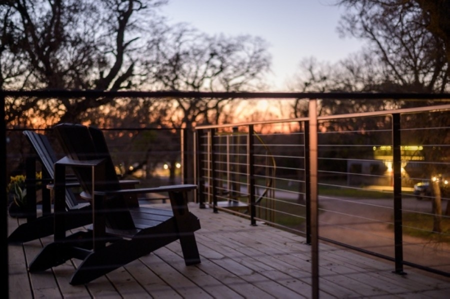 Homes will include a private fire pit and a private rooftop deck. (Courtesy Happy Goat Retreat)
