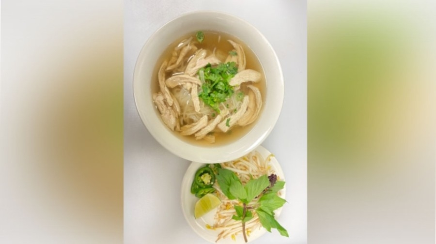 Pho menu options include steak, meatballs, fat brisket, flank, tendon, tripe, veggies and tofu. (Courtesy Pho Sen Noodle and Grill)