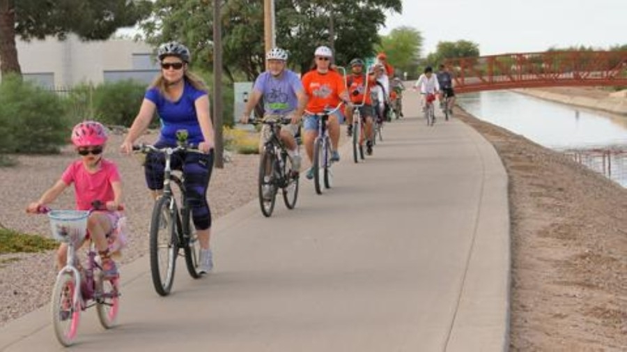 The Chandler Family Bike Ride will return April 10-18, according to a news release from the city. (Courtesy city of Chandler)