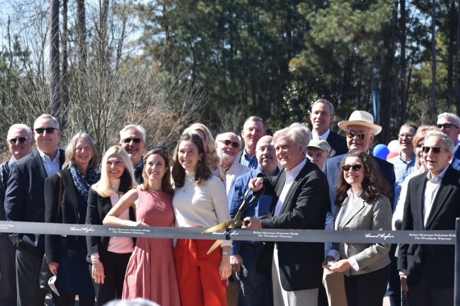 Robert Heineman was joined by family as well as The Woodlands and Howard Hughes Corp. officials. (Vanessa Holt/Community Impact Newspaper)