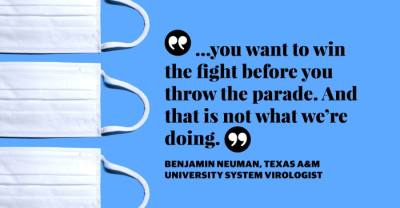 Dr. Benjamin Neuman, a virologist with the Texas A&M University System, spoke about the state of the COVID-19 pandemic in Texas ahead of the March 10 rollback of mask and capacity rules. (Community Impact staff)
