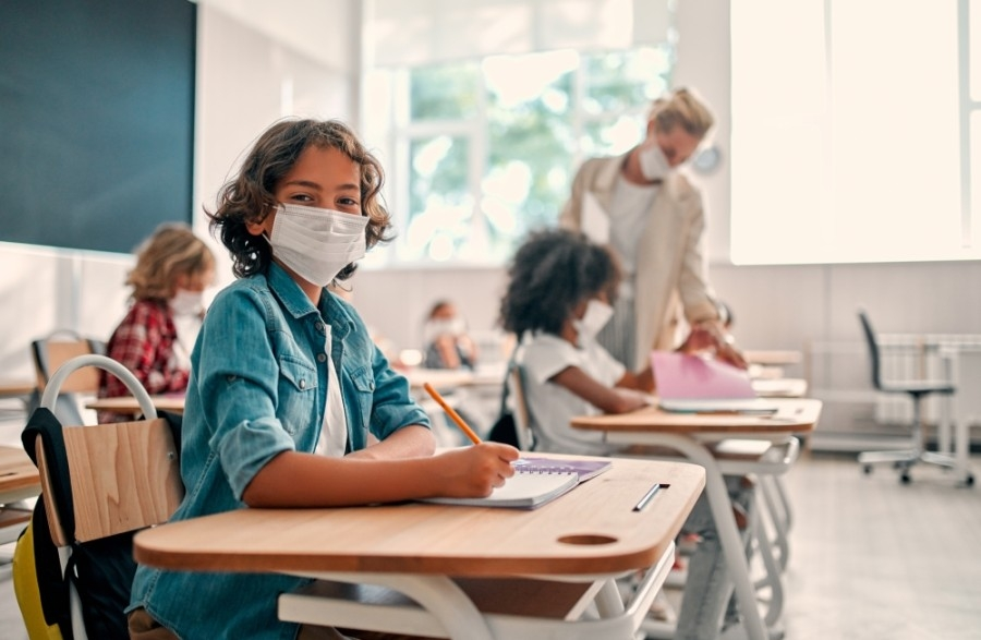 Students and staff at NCISD will continue to wear face masks for the remainder of the school year. (Courtesy Adobe Stock)