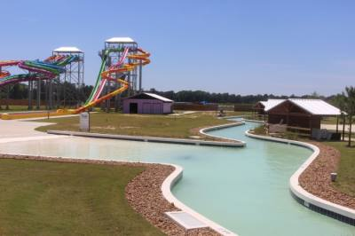 New Caney's Big Rivers Waterpark & Adventures plans to open for spring break. (Kelly Schafler/Community Impact Newspaper)