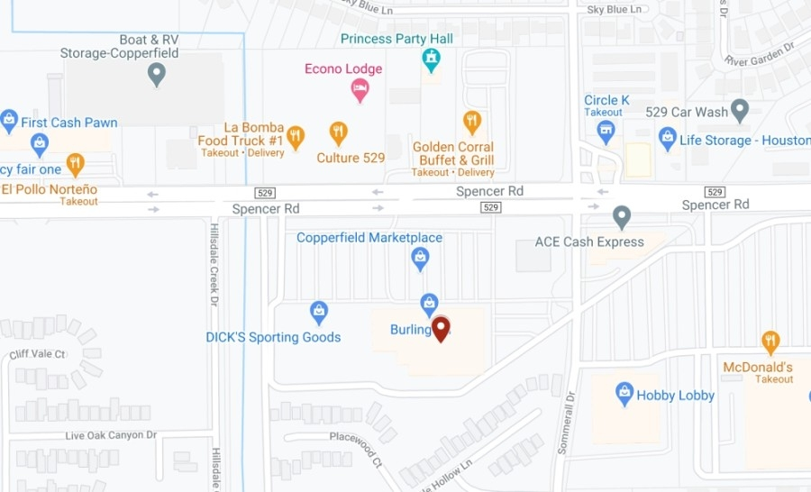 Uptown Beauty Supply opened March 5 in the Copperfield Marketplace. (Screenshot courtesy Google Maps)