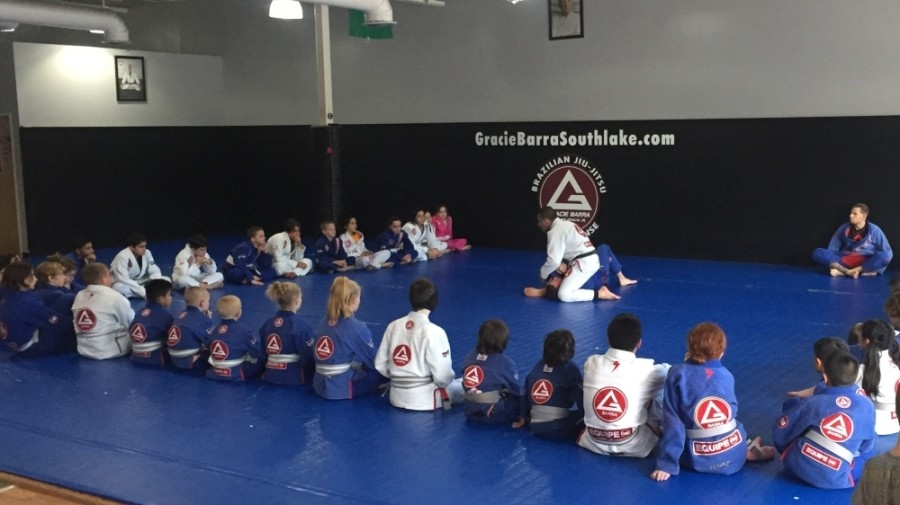 Students attend a class at Gracie Barra in Southlake. (Courtesy of Gracie Barra)