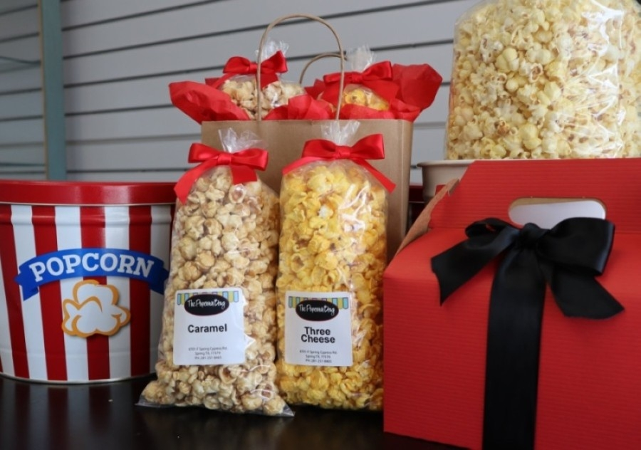 The business first opened in December 2011 and specializes in gourmet popcorn, boasting more than 40 sweet and savory flavors that change seasonally. (Courtesy The Popcorn Bag)