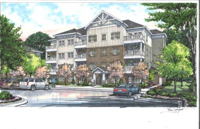 Walker Place is an affordable condominium complex under development by Community Housing Partnership of Williamson County. (Rendering courtesy Community Housing Partnership of Williamson County, Gamble Design Collaborative)