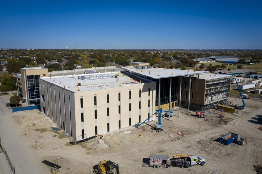 Collin College's Frisco Campus IT Center is slated to open in August. (Courtesy Collin College)