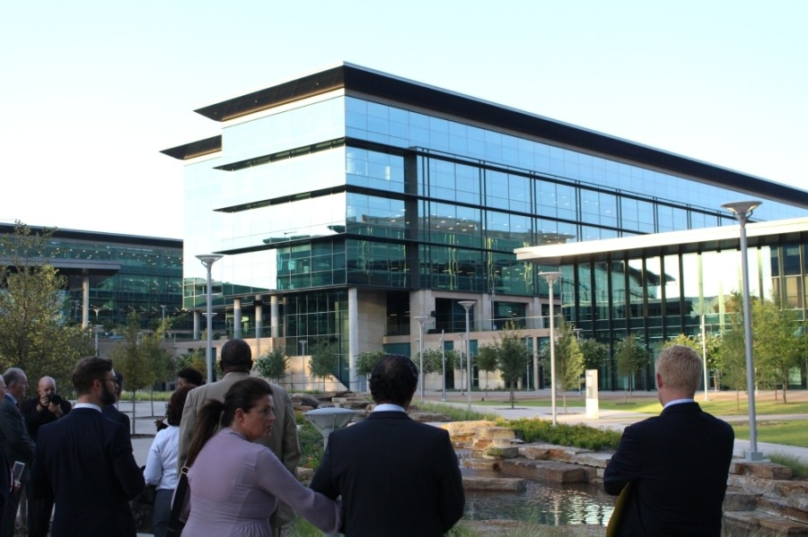 Toyota received a nearly $6.8 million grant from the city in 2014 through an incentive agreement for the construction of its Plano campus, with stipulations to add up to 3,650 full-time positions at the location. (Community Impact staff)