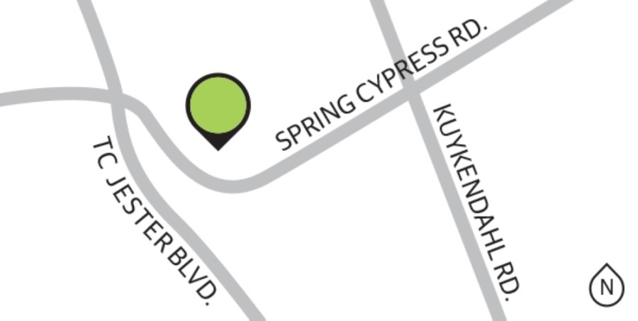 Located near the intersection of Spring Cypress Road and TC Jester Boulevard, Villages of Senterra Lakes comprises 274 single-family homes and is zoned to Klein ISD. (Graphic by Ronald Winters/Community Impact Newspaper)