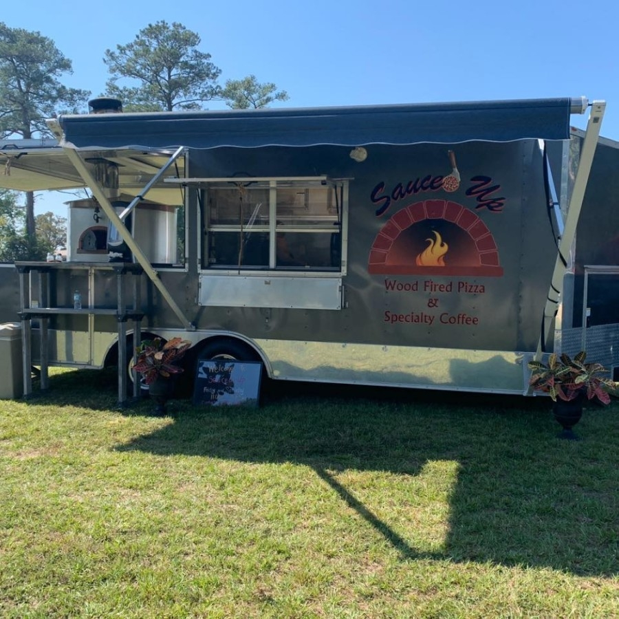 Mobile food truck Sauced Up opened at 36825 FM 1774 in late January and is slated to open a brick and mortar store in the same location this summer. (Courtesy Sauced Up)