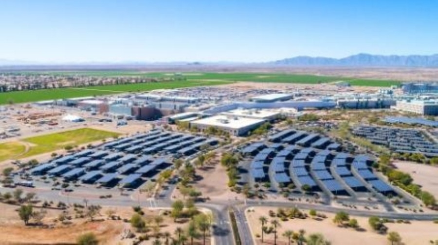 Intel plans to invest $20 billion in an effort to expand its semiconductor manufacturing operations by building two new fabrication facilities at its Ocotillo Campus in Chandler, according to a news release from the city. (Courtesy city of Chandler)