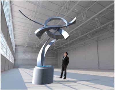 The sculpture will be commissioned from Hunter Brown, an artist based in Arkansas. (Courtesy of Innovative Sculpture Design)