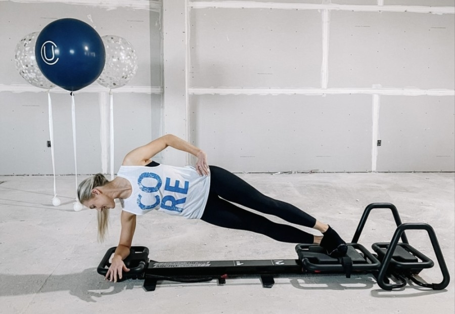 Lagree specializes in high intensity but low impact muscular endurance exercises to combine strength, endurance, cardio, balance, core and flexibility training, per a company release. (Courtesy Urban Core)