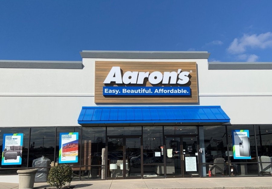 The retailer specializes in rent-to-own furniture, electronics and appliances. (Courtesy Aaron's)