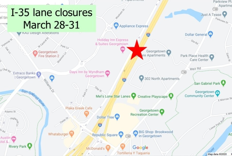 The Northwest Boulevard bridge will be a new east-west connection over the interstate and an alternative to Williams Drive. (Screenshot courtesy city of Georgetown)