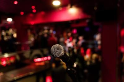 Microphone in a club.