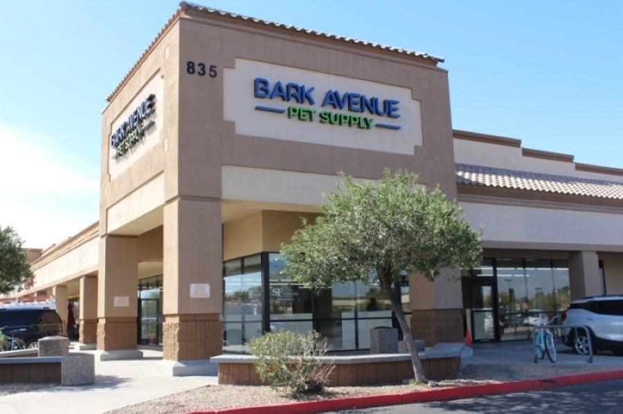Bark Avenue Pet Supply anticipates opening in mid-April. (Tom Blodgett/Community Impact Newspaper)