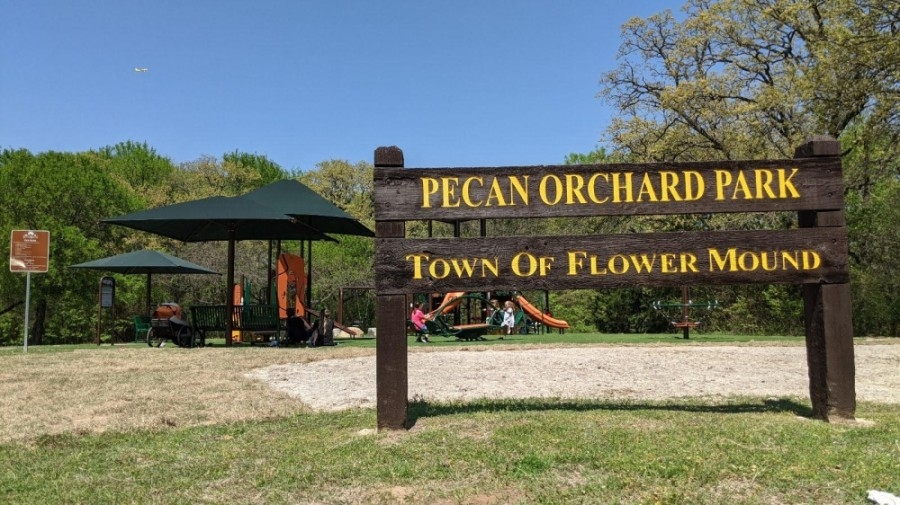 Upgrades for Flower Mound's Pecan Orchard Park are now complete. (Barbara Delk/Community Impact Newspaper)