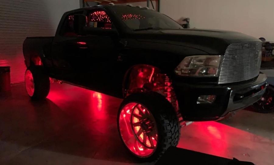 truck with custom lights