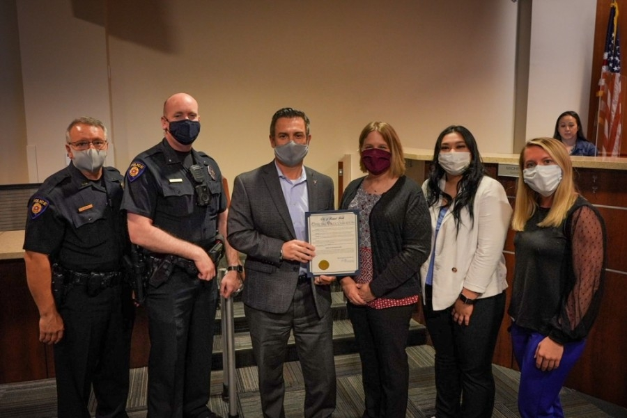 Round Rock City Council approved April 18-24 as National Crime Victims' Rights Week at the meeting on April 22. (Courtesy: City of Round Rock)