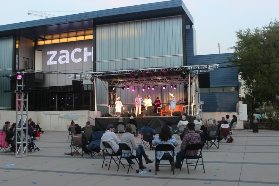 The Zach Theatre has hosted an outdoor performance series this year. (Olivia Aldridge/Community Impact Newspaper)
