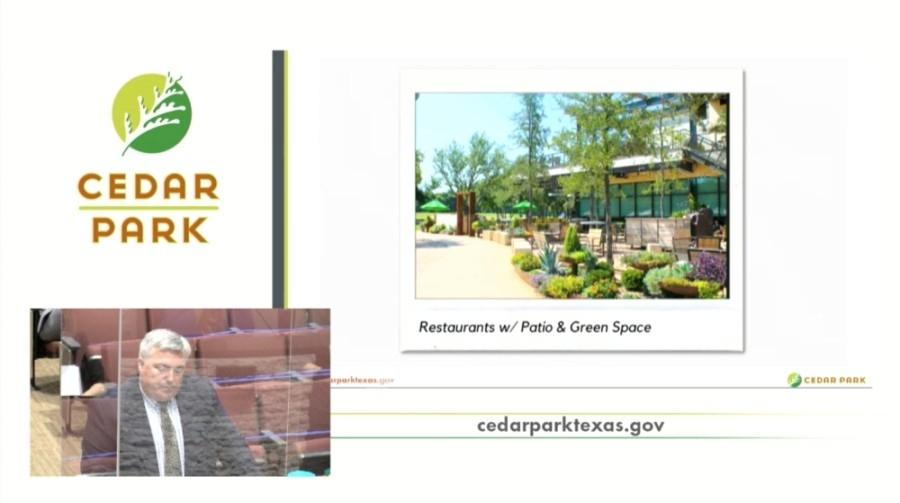 Cedar Park city council meeting screenshot