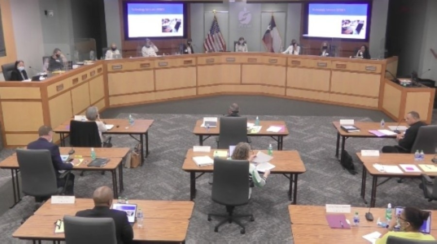 Plano ISD board of trustees talked about plans for the 2021-22 school year at the April 20 meeting. (Screenshot courtesy Plano ISD)