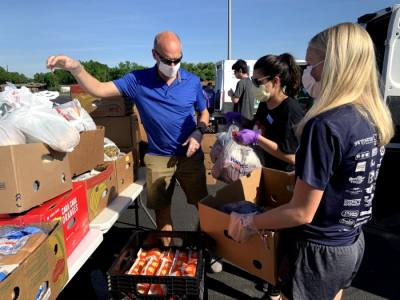 The food distribution is the first of three to be held by the city of Kyle over the next three months. (Courtesy Hays County Food Bank)