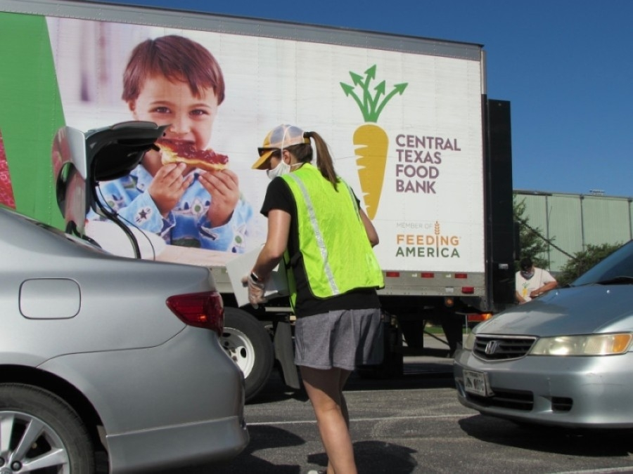 The Central Texas Food Bank is one of more than 40 South Austin nonprofits serving the local community and offering volunteer opportunities. (Nicholas Cicale/Community Impact Newspaper)