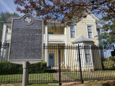 Jessie Daniel Ames' home is located at 1004 S. Church St., Georgetown. (Ali Linan/Community Impact Newspaper)