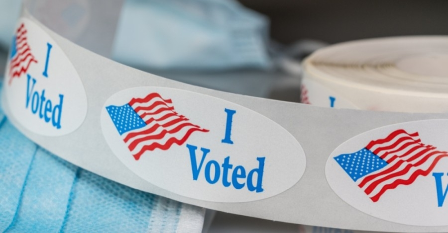 A roll of I Voted stickers