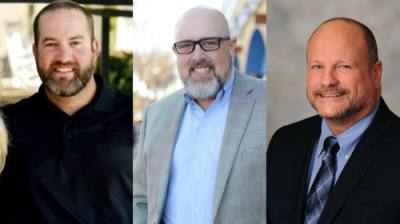 Hogan Page (left), Bryan Moyers (center) and David Brundage (right) are Roanoke City Council's newest elected members. (Courtesy Page, Moyers and Brundage)