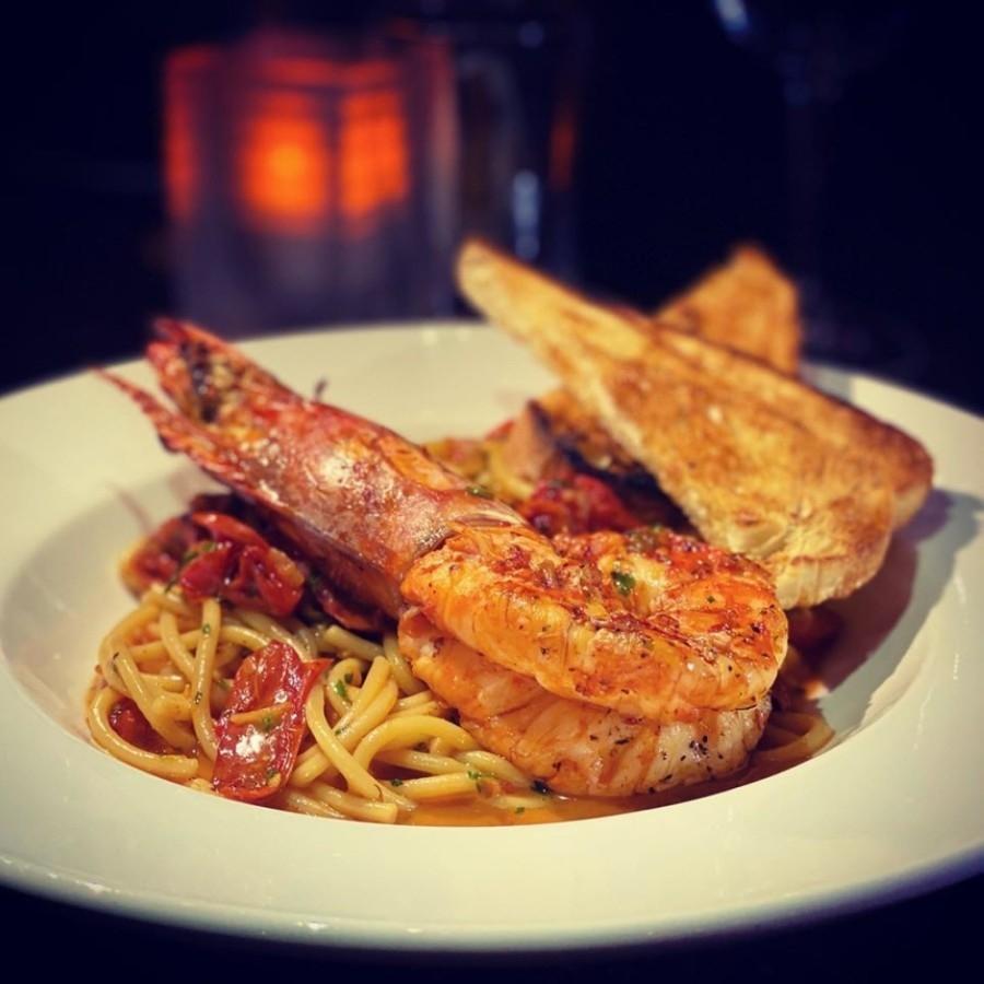 Gamberi Fra Diavolo is a signature dish at Avanti Italian Kitchen and Wine Bar. (Courtesy Avanti Italian Kitchen and Wine Bar)