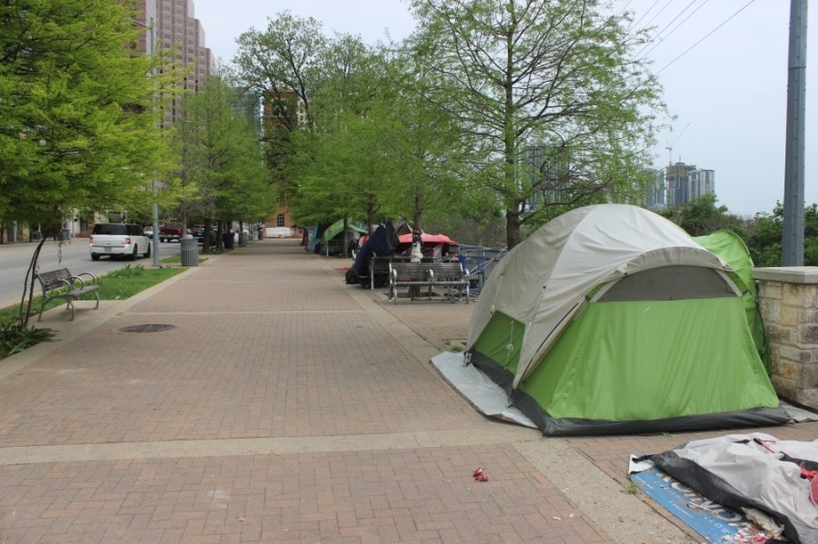 New penalties for camping and several other activities will be enforced after the May 1 election is certified and Proposition B's homeless ordinances are in effect. (Ben Thompson/Community Impact Newspaper)