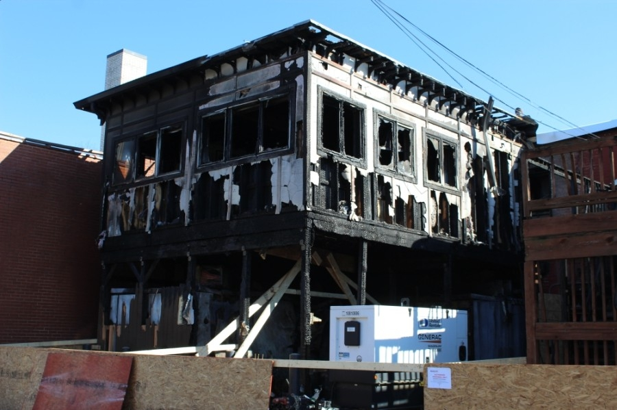 Fire damage caused the Red Pony to temporarily shut down its Main Street location in Franklin. (Wendy Sturges/Community Impact Newspaper)