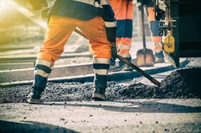 asphalt work on road