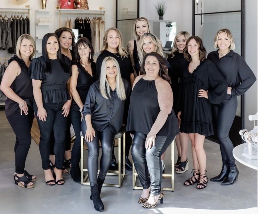 The business features an upscale hair salon and boutique. (Courtesy Bonjour Belle Salon and Suites)