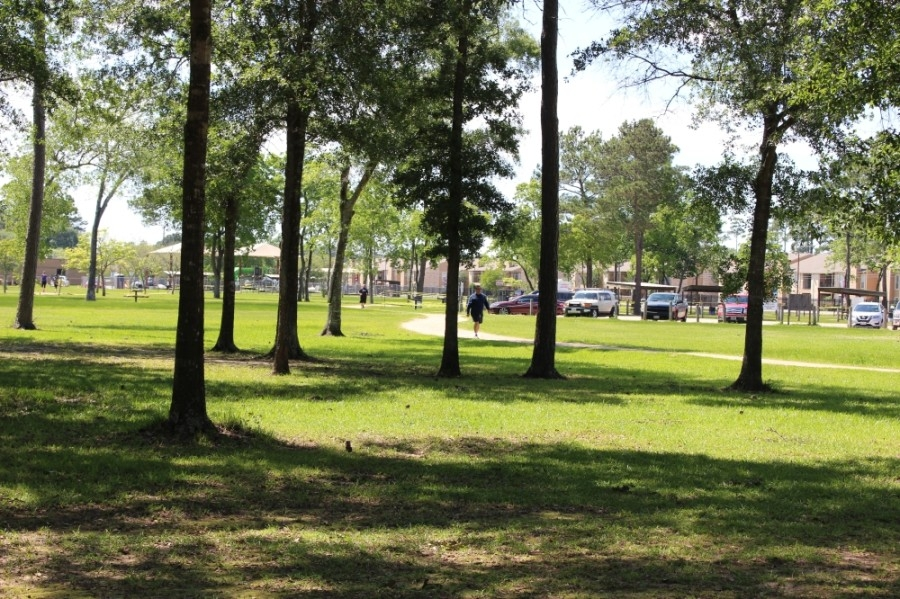 The city of Humble has been investing in improvements to its four parks, such as Schott Park. (Kelly Schafler/Community Impact Newspaper)