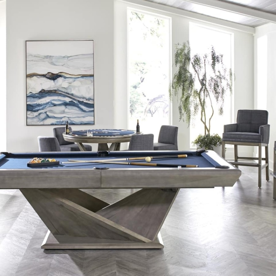 The business offers a selection of home entertainment furniture including pool tables, foosball tables, air hockey tables, shuffleboards, and bar and game room furniture. (Courtesy Billiard Factory)
