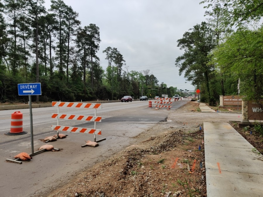 FM 2978 has been under construction since 2018. (Ben Thompson/Community Impact Newspaper)