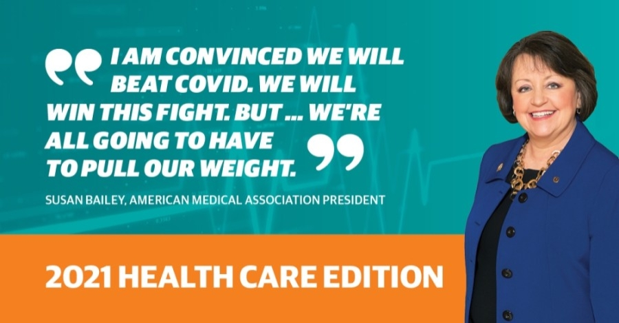 Susan Bailey was elected president of the American Medical Association in June 2020. (Courtesy American Medical Association)