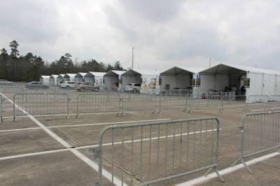 The Woodforest Bank Stadium vaccine hub is set to close June 3. (Andrew Christman/Community Impact Newspaper)