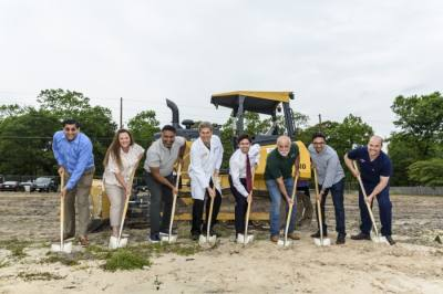 Construction on a three-story medical office building is underway at 3786 FM 1488, Conroe, following an April 22 groundbreaking, the development company, Egrets Group, announced in a May 10 release. (Courtesy Egrets Group)