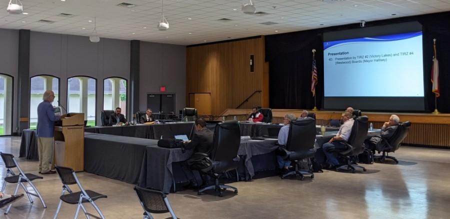 League City City Council meeting stock photo image