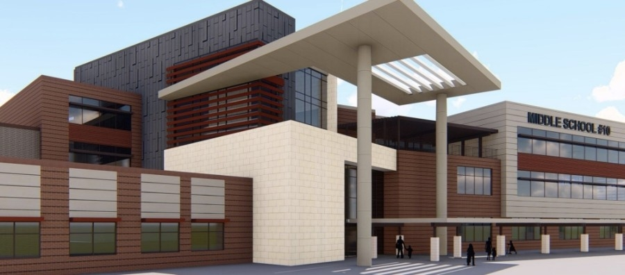 Middle School No. 10 will open in August 2022. (Rendering courtesy Humble ISD's presentation for the community input meeting)